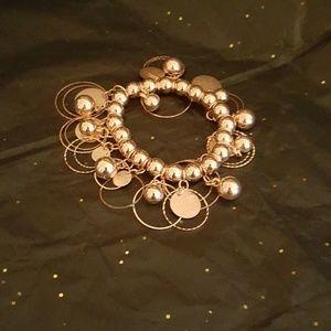 ROSE Gold costume jewelry bracelet